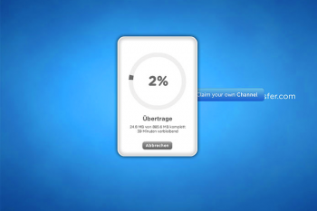 Ein Klick löst den Datentransfer aus...