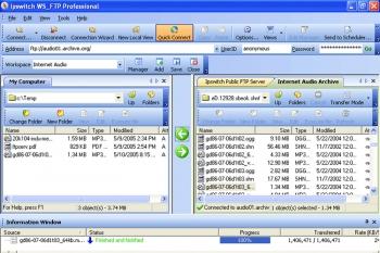 Eine sehr verbreitete FTP Software neben File Zilla ist WS-FTP Pro von Ipswitch
